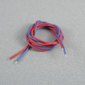 Silicone Wire 1.6mm x 1m Red/Blue