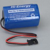 Battery Pack 4.8V 1200mAh Ni-MH Rx Pk Square