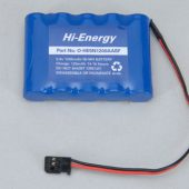 Battery Pack 6.0V 1200mAh Ni-MH Rx Pk Flat