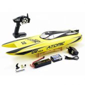 Volantex Racent Atomic 70cm Brushless Boat RTR – Yellow