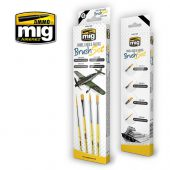 MIG Panel Lines and Fading Brush Set
